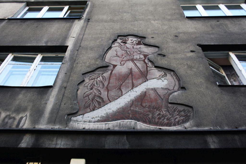 Kraków, Pawia 12. Góral i paw