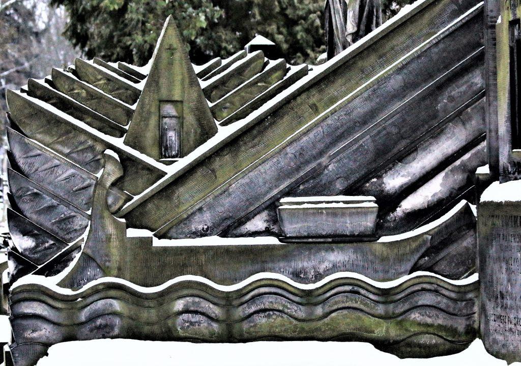 Warszawa. Stare Powązki. Grobowiec Paszkowskich. Projekt Tadeusz Cieślewski syn. 1928. Wyspa Umarłych. Fot. Jerzy S. Majewski