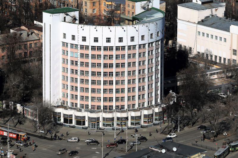Jekaterynburg. Budynek hotelowy w dawnym Miasteczku Czekistów. Fot. Jerzy S. Majewski