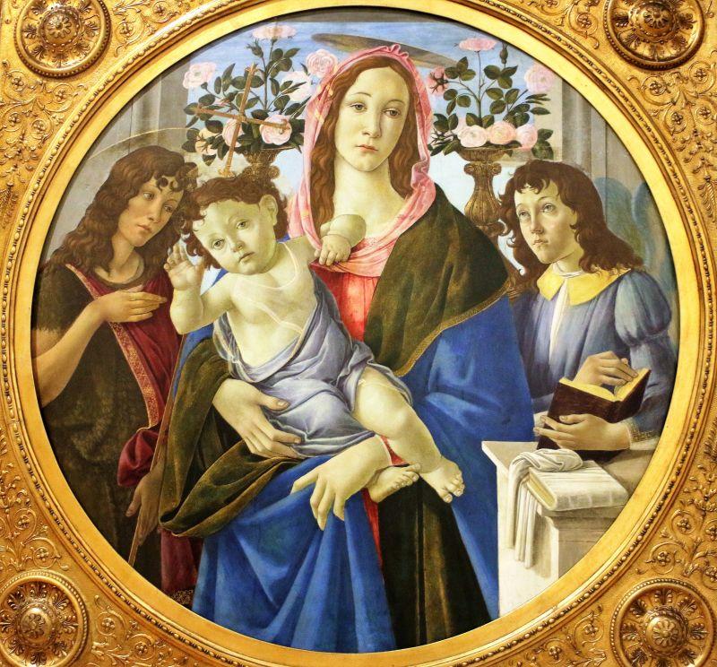 Alessandro Botticelli. Madonna z dzieciątkiem i Janem Chrzcicielem. Warszawa ok. 1480-1510. Muzeum Narodowe w Warszawie. Fot. Jerzy S. Majewski