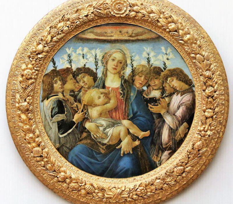 Sandro Botticelli. Madonna Raczyńskiego. Tondo, ok 1477. Berlin, Gemäldegalerie. Fot. Jerzy S. Majewski