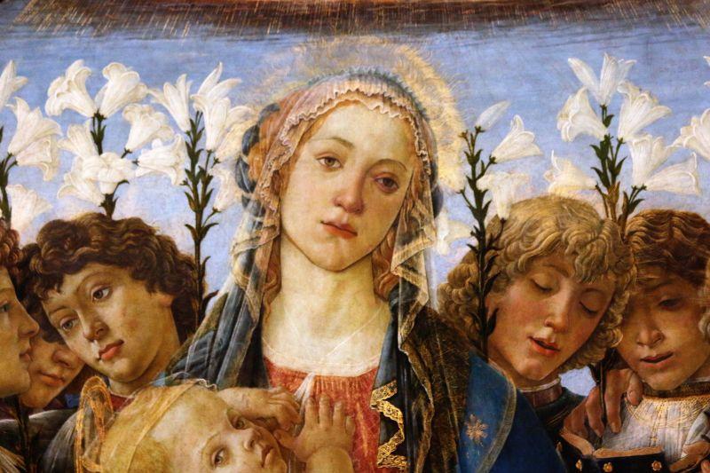Sandro Botticelli. Madonna Raczyńskiego. Tondo, ok 1477. Berlin, Gemäldegalerie. Smutna twarz Madonny. Fot. Jerzy S. Majewski