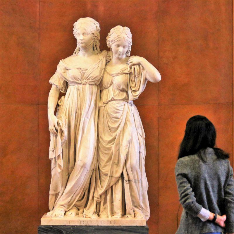 Berlin. Nationalgalerie. Johann Gottfied Schadow. Wobrażenie Luizy Pruskiej i jej siostry Fryderyki. 1795. Fot. Jerzy S. Majewski