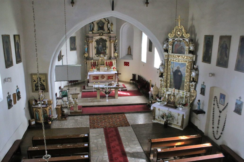 Łopatki koło Wąbrzeźna. Wnętrze kościoła. Fot. Jerzy S. Majewski