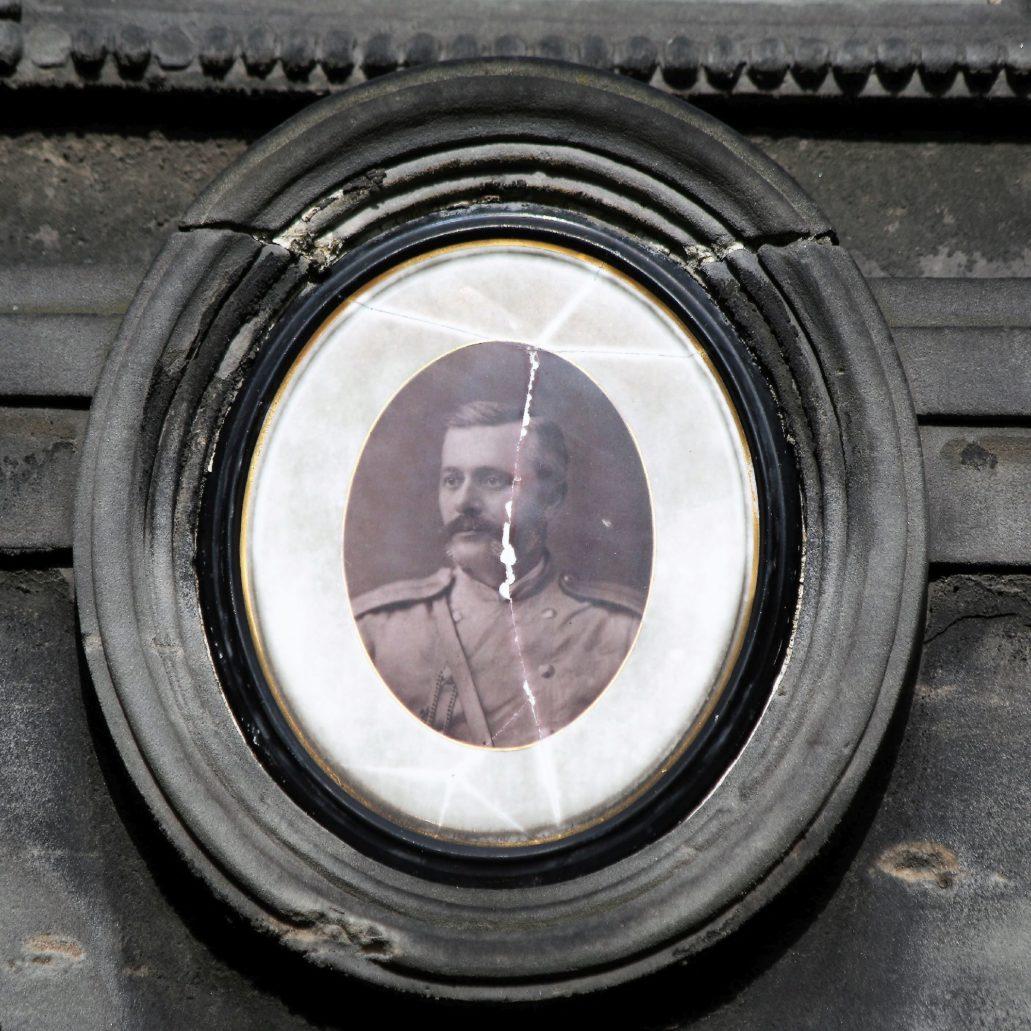 Warszawa. Cmentarz Prawosławny. Podpułkownik Konstantin Nikołajewicz Czernobajew (1838-1889) Fot. Jerzy S. Majewski