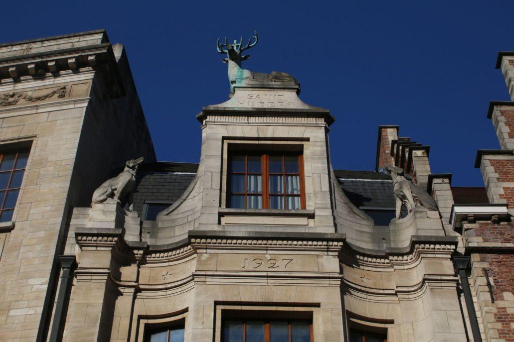 Leuven. Brusselsestraat 2, Wedweropbouwburgerhuis Saint Hubert,. Projekt Léon Jean Joseph Govaerts. 1926-27