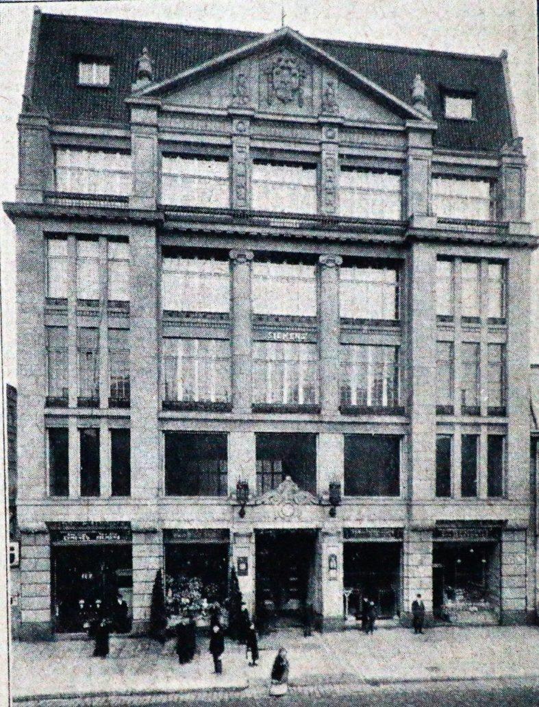 Łódź. Piotrkowska 96. Dom Simensa w 1914 r. Il. wg. Świat 1914