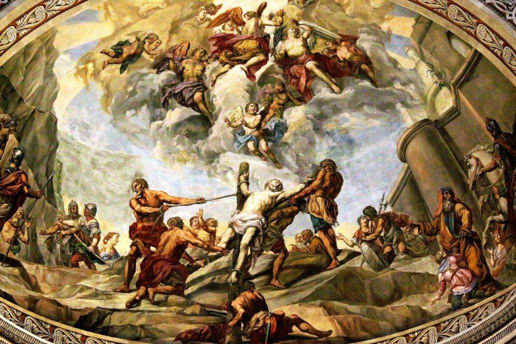Mantua. Bazylika San Andrea. Scena z męczeństwem św. Andrzeja w sklepieniu prezbiterium. Fot. Jerzy S. Majewski