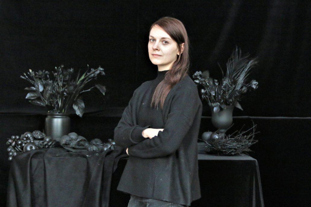 Agata Kleczkowska. Projektantka Grobu Pańskiego u Wizytek. Fot.: Jerzy S. Majewski