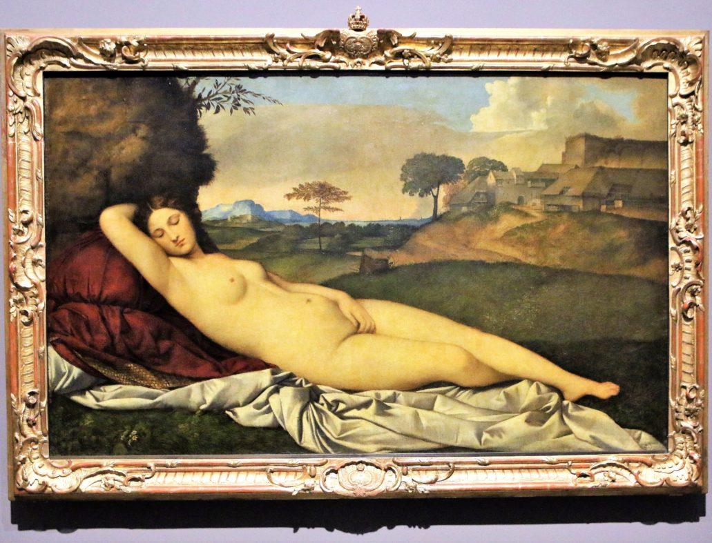 Drezno. Galeria Dawnych Mistrzów. Giorgione. Śpiąca Wenus. 1508-1510. Fot. Jerzy S. Majewski
