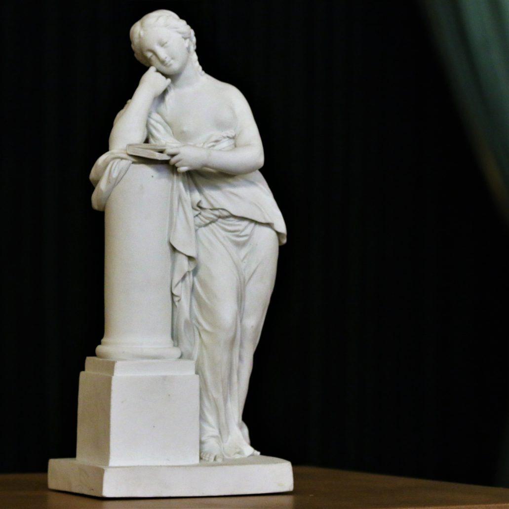 Medytacja podług modelu Louisa-Simona Bizota. Figurka z biskwitu 1775-1785