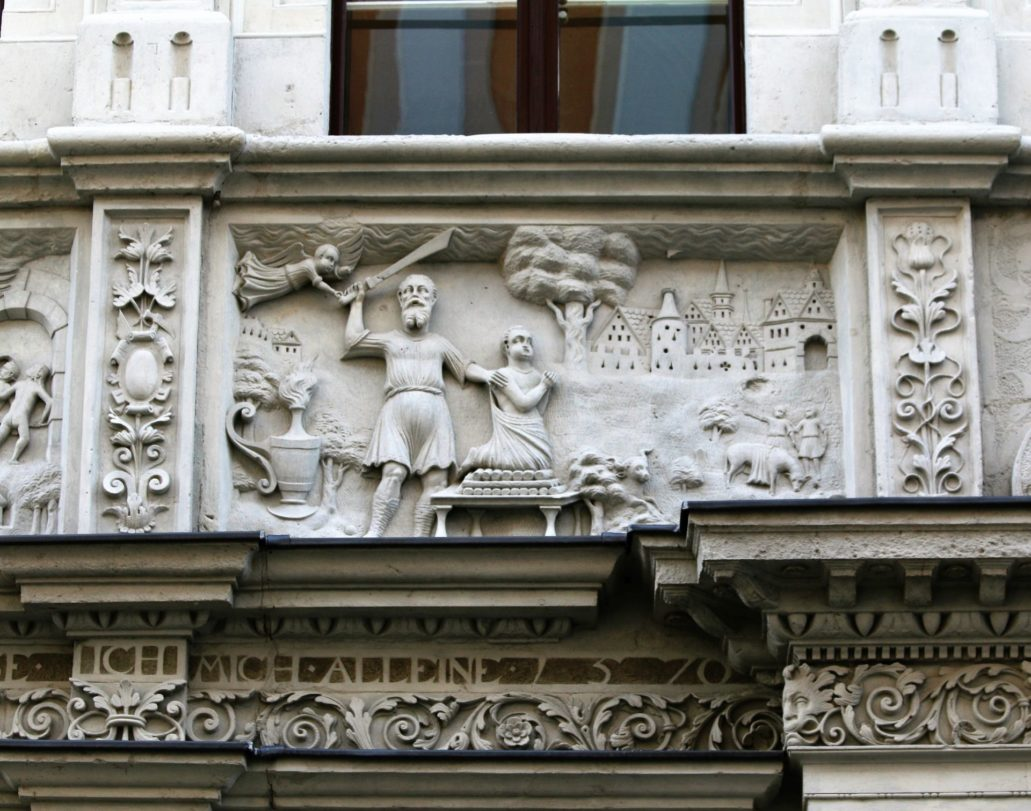 Görlitz. Neißstraße 29. Dom Biblijny. Scena ofiarowania Izaaka. Fot. Jerzy S. Majewski