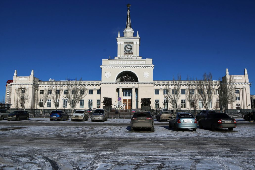 Wołgograd. Fasada dworca kolejowego. Fot. Jerzy S. Majewski