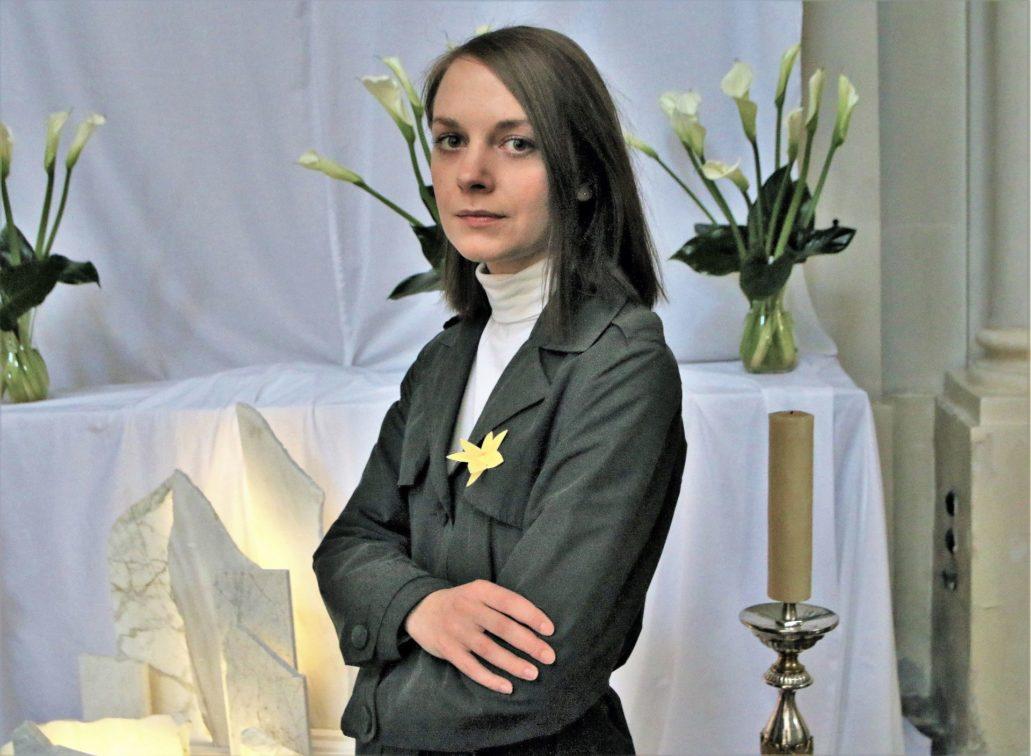 Agata Kleczkowska. Projektantka Grobu Pańskiego u Wizytek. Fot. Jerzy S. Majewski