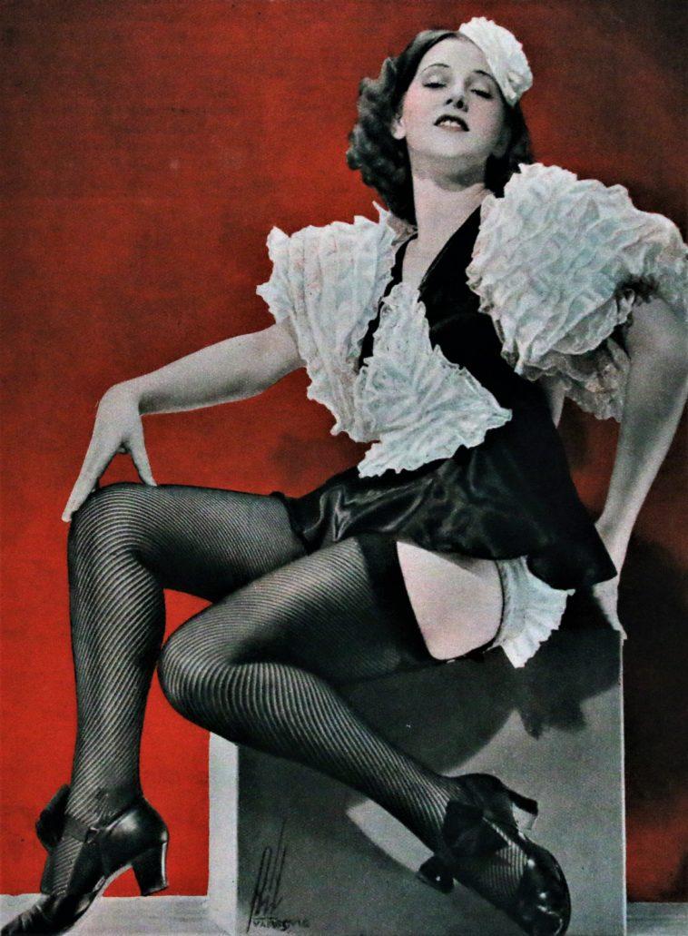 """Aktorka Helena Grossówna. To ta aktorka miała zainspirować przedsiębiorców do nadania najnowocześniejszemu przybytkowi X muzy w Gdyni nazwy """"Gwiazda"""". Ilustracja zamieszczona w tygodniku """"Kino"""" 1935 nr 31."""