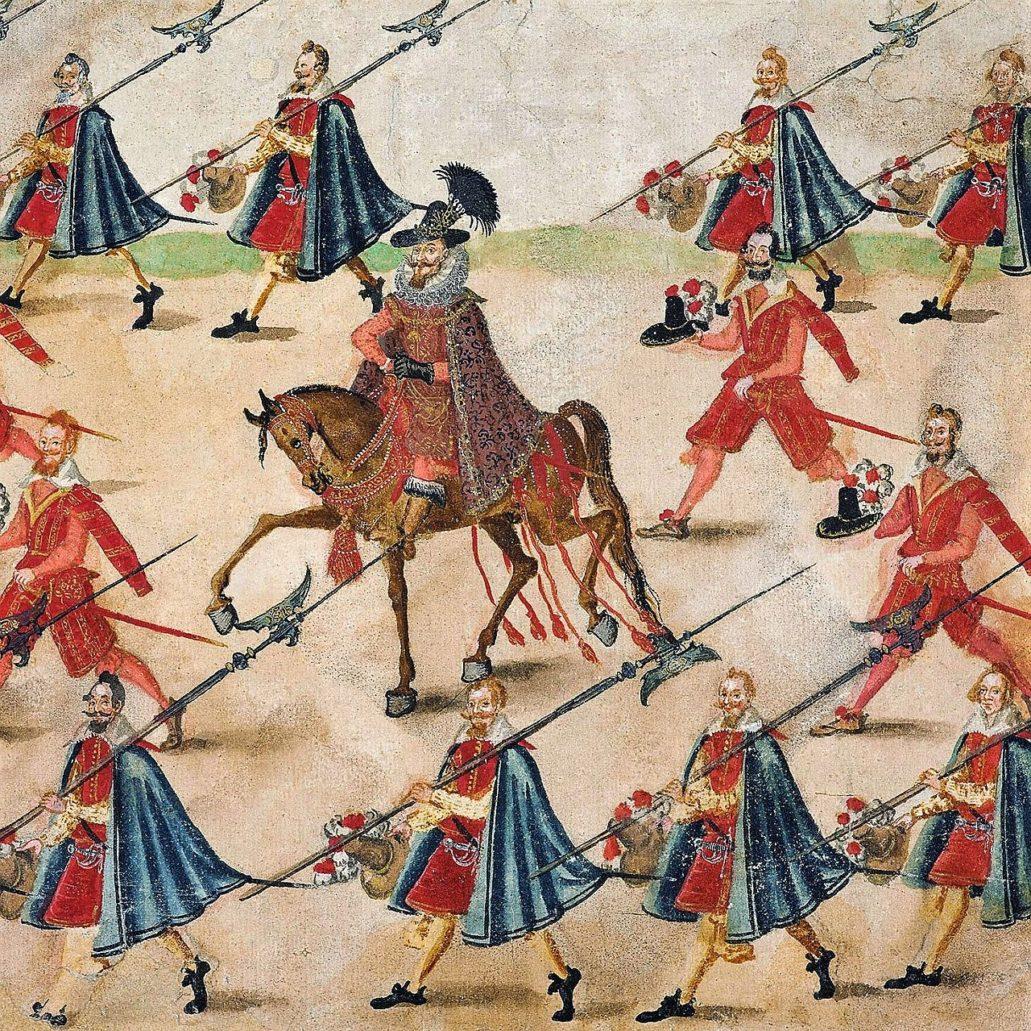 Król Zygmunt III Waza wyobrażony na Rolce Sztokholmskiej. Rolka jest niczym filmowy zapis z uroczystego wjazdu orszaku ślubnego Konstancji Habsburżanki do Krakowa 4 grudnia 1605 r. Ma ona długość 15 metrów i 27 cm. W zbiorach Zamku Królewskiego w Warszawie. Materiały Zamku Królewskiego w Warszawie