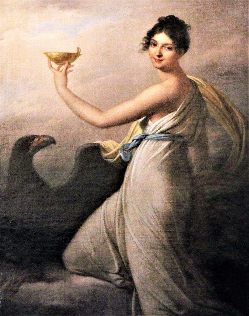 Lwów. Pałac Potockich. Lwowska Galeria Sztuki. Josef Grassi. Teresa Lubomirska jako Hebe. 1809. Fot. Jerzy S. Majewski