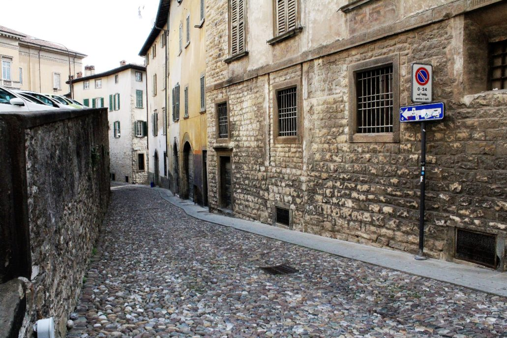 Bergamo. Citta Alta. Via Simone Mayr. Fot. Jerzy S. Majewski
