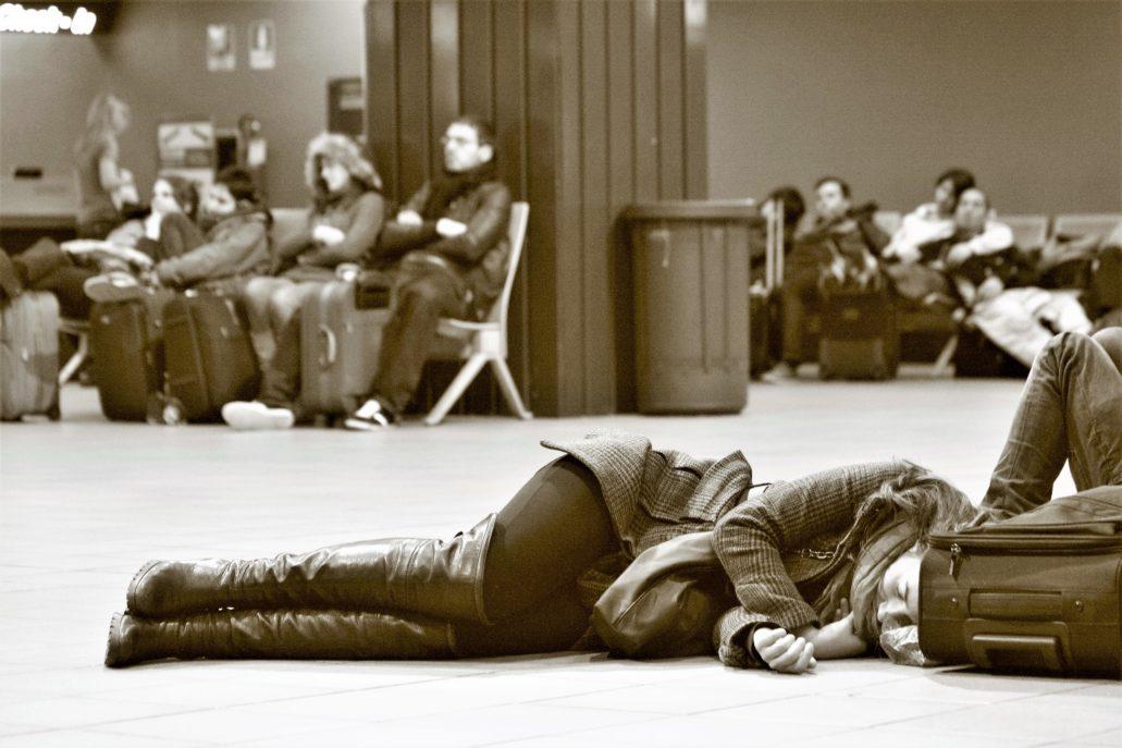 Bergamo. Noc na lotnisku. Fot. Jerzy S. Majewski