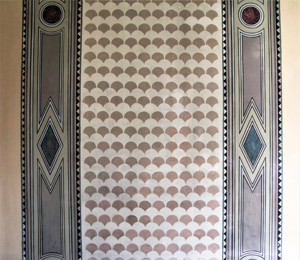 Ferrara. Palazzo delle Poste. Fragment dekoracji malarskiej. Fot. Jerzy S. Majewski