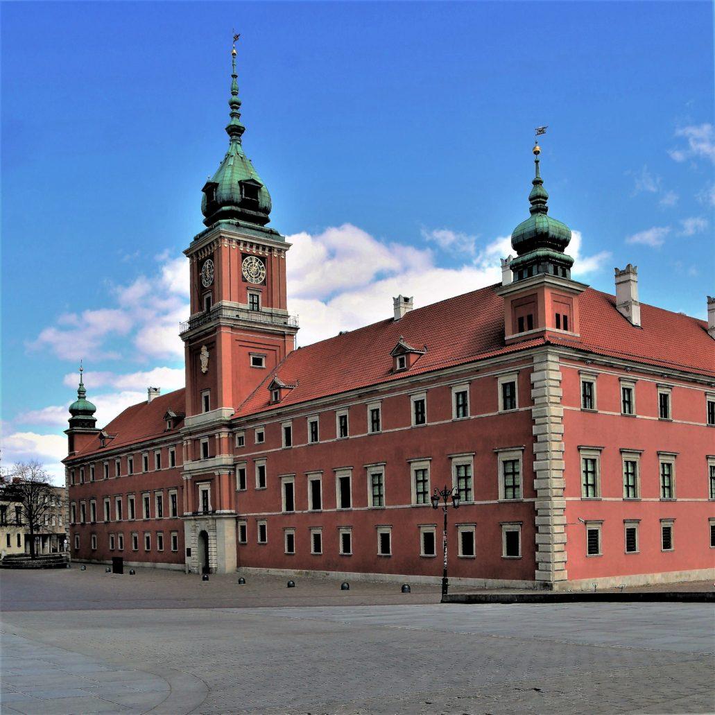 Warszawa. Koronawirus. Pustki przed Zamkiem Królewskim. Fot. Jerzy S. Majewski