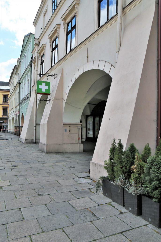 Cieszyn. Kamienica z podcieniem Rynek 6. Fot. Jerzy S. Majewski
