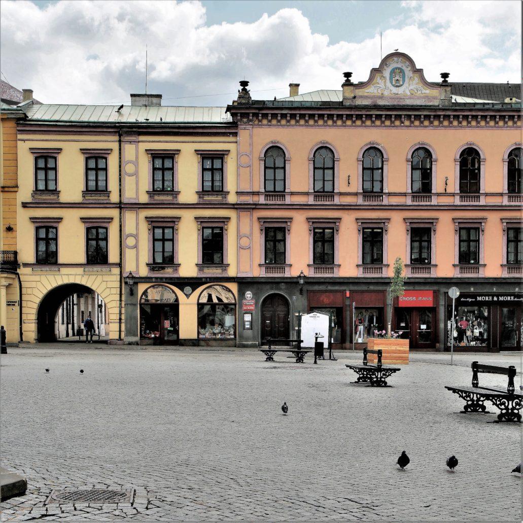 Cieszyn. Fragment południowej pierzei Rynku. Fot. Jerzy S. Majewski