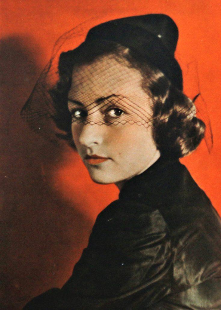 Tancerka i aktorka Irena Kamieniecka. Kino 1937, nr 34