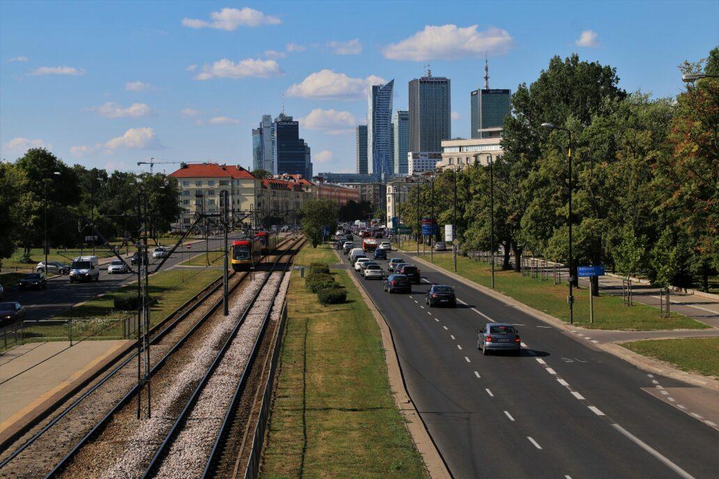 Warszawa. Panorama centrum od Al. Niepodległości latem 2018 r. Fot. Jerzy S. Majewski