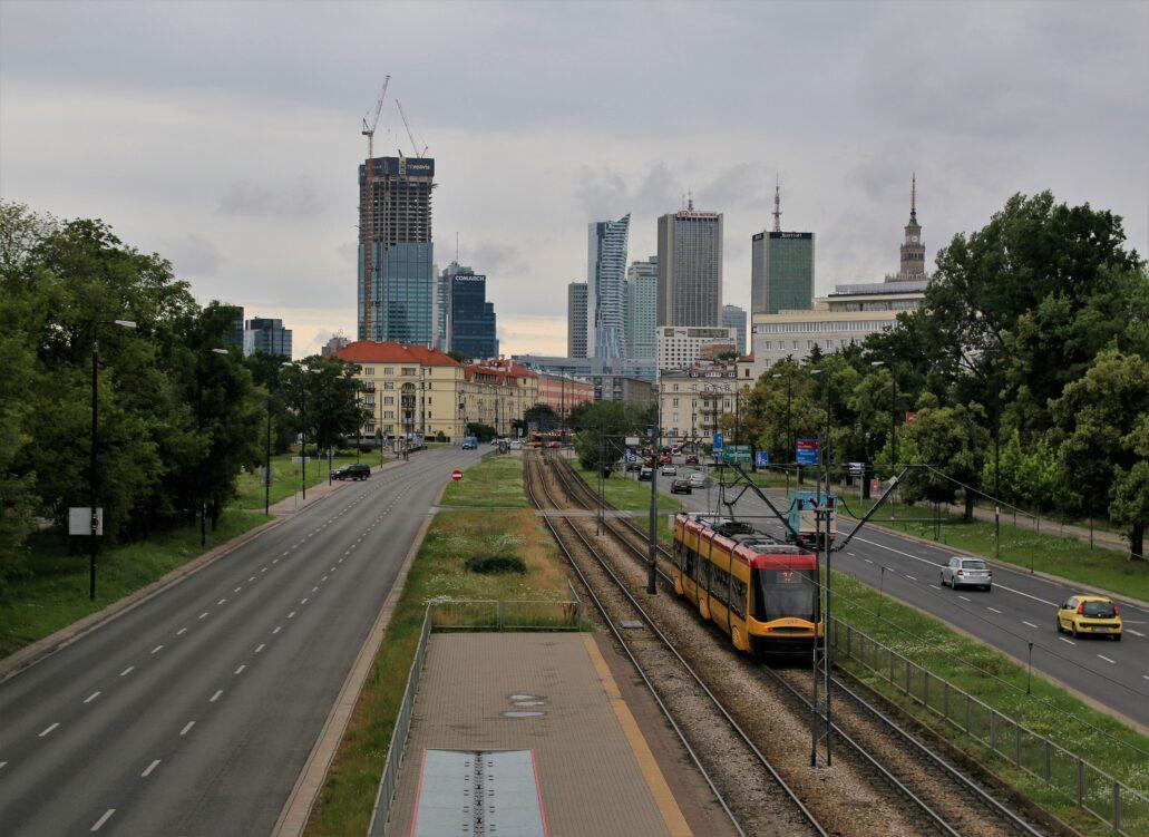 Warszawa. Panorama centrum od strony Al. Niepodległości 11 lipca 2020 r. Fot. Jerzy S. Majewski