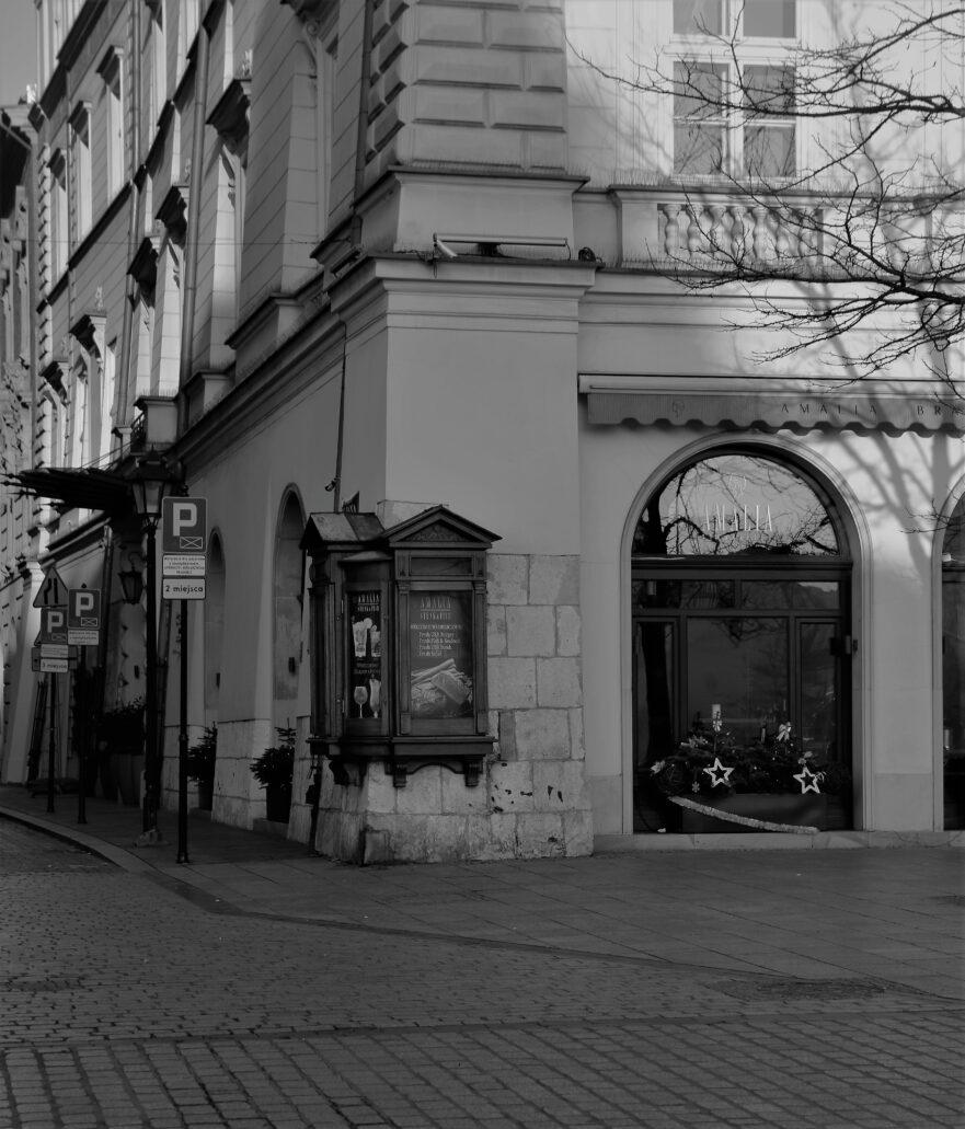 Kraków. Rynek Główny 42. Fragment przyziemia kamienicy Zachertowskiej u zbiegu z ul. św. Jana. Fot. Jerzy S. Majewski