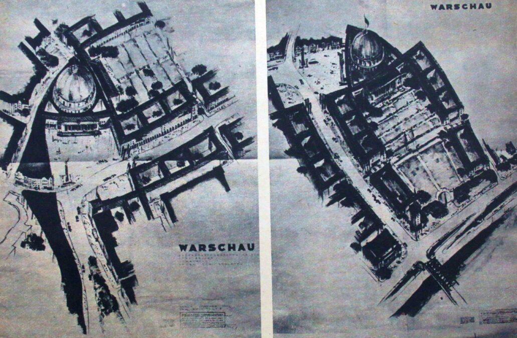 Decyzja Hitlera o nieodbudowywaniu miasta pociągnęła za sobą powołanie zespołów projektantów opracowujących projekty przebudowy Warszawy. Był to plan przygotowany przez urbanistów i architektów z Würzburga. Powstał już w 1940 roku! Pierwszy zakładał przekształcenie Warszawy w miasto 200-tysięczne, ale po interwencjach Hansa Franka liczbę przyszłych mieszkańców zmniejszono do 100-120 tysięcy. Z dawnej zabudowy zamierzano pozostawić zregotycyzowane Stare Miasto uznane za zabytek kultury niemieckiej, Łazienki i Belweder przeznaczone na letnią rezydencją Führera. Zabudowa miała ciągnąć się od Starego Miasta po Ujazdów. W miejscu Zamku Królewskiego planiści projektowali budowę monstrualnej hali ludowej, otoczonej gmachami urzędów, a wzdłuż Wisły miała ciągnąć się tonąca w zieleni dzielnica willowa. Z kolei na praskim brzegu przewidziano budowę baraków dla tysięcy polskich niewolników. Główne trasy komunikacyjne miały Warszawę omijać. Realizacje planu odkładano na ostateczne zwycięstwo nad bolszewizmem.
