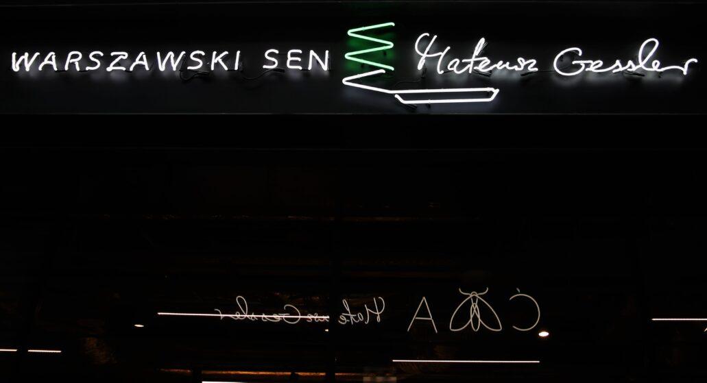 """Warszawa. Hala na Koszykach. """"Warszawski sen"""" Mateusza Gesslera. Fot. Jerzy S. Majewski"""